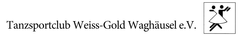 Tanzsportclub Weiss-Gold Waghäusel e.V. logo